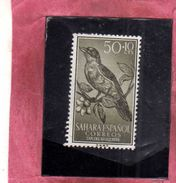 SAHARA ESPAÑOL SPANISH SPAGNOLO 1958 STAMP DAY DIA DEL SELLO GIORNATA DEL FRANCOBOLLO BIRD FAUNA CENT. 50 + 10c MNH - Sahara Spagnolo