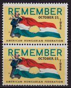 HUNGARICA / USA  Hungary Exile LABEL CINDERELLA VIGNETTE - American Hungarian Federation - Revolution FLAG - Unused Stamps