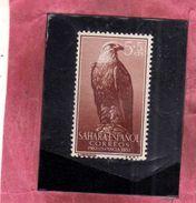 SAHARA ESPAÑOL SPANISH SPAGNOLO 1957 PRO INFANCIA INFANZIA FOR CHILD WELFARE FAUNA EAGLE AQUILA CENT. 5 + 5c MNH - Sahara Spagnolo