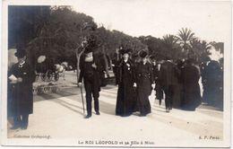 NICE - Le Roi Léopold Et Sa Fille A NICE .   (98077) - Nice