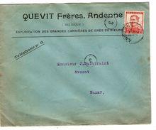 TP 118 Albert Pellens S/L.En-Tête Quevit Frères Andenne Expolitation Carrières De Grès C.Andenne 22/11/16913 V.NamurJS63 - 1912 Pellens