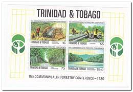 Trinidad & Tobago 1980, Postfris MNH, Forestry, Trees - Trinidad En Tobago (1962-...)
