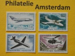 France 1960, AIRPLANES AVIONS VLIEGTUIGEN FLUGZEUGE: Mi 1279-82, ** - Vliegtuigen