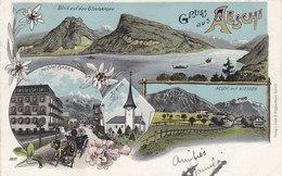 Gruss Aus Aeschi Mit Hotel Bären - Litho - 1904     (P-58-40614) - BE Berne