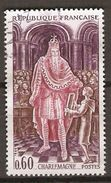 FRANCE   -   1966 .  Y&T N° 1497 Oblitéré.   Charlemagne - France