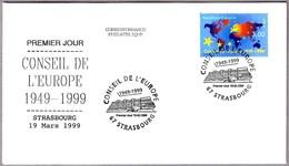 50 Años CONSEJO DE EUROPA - COUNCIL OF EUROPE 50 Years. SPD/FDC Strasbourg 1999 - Instituciones Europeas