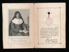 HEILIG PRENTJE MET RELIEK - RELIQUE - LA SERVANTE DE DIEU JULIE BILLIART ) 2 SCANS - Images Religieuses