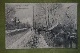 AIX-EN-OTHE (Aube) - Effet De Neige - La Grenouillère L'hiver (avec Lavoir) - France