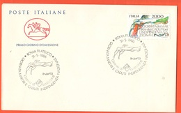 FDC Cavallino Per I Martiri Caduti Indipendenza Da 2000  Lire Annullo Roma - 6. 1946-.. Repubblica