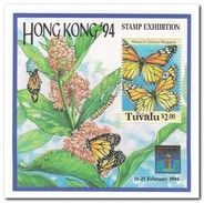 Tuvalu 1994, Postfris MNH, Flowers, Butterflies - Tuvalu