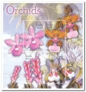 Tuvalu 2003, Postfris MNH, Flowers, Orchids - Tuvalu