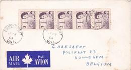 Gelopen Brief Van BRIDGEPORT => GULLEGEM  / Met 5 Maal Rolzegel Nr 380b - Briefe U. Dokumente