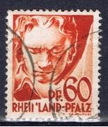 D+ Rheinland-Pfalz 1947 Mi 12 Beethoven - Zone Française