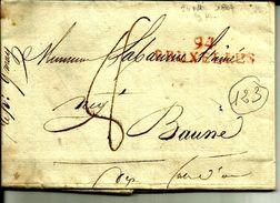 Lettre Année 1807 Bruxelles Belgique  Departement Conquis Pour Baune  N°123 - Marcofilie (Brieven)