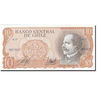 Chile, 10 Escudos, 1967-1976, Undated (1970), KM:142, NEUF - Chili