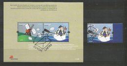 Portugal / Azoren 2008  Mi.Nr. 543 + Block 36 , EUROPA CEPT - Der Brief  - Gestempelt / Used / (o) - 2008