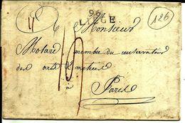 Lettre Année 180? 96 Liege  Belgique Departement Conquis  Pour Paris France N°126 - Poststempel (Briefe)