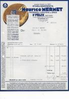 74.- SAINT-FELIX  MAURICE  MERMET Fromages De Gruyere En Gros - Alimentaire