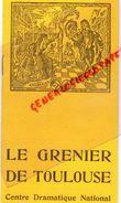 31 - TOULOUSE - PROGRAMME LE GRENIER -1958-L' HISTOIRE DU SOLDAT- IGOR STAVINSKY-JEAN FAVAREL-RENE BERGIL-SERGE BAUDO- - Programmi
