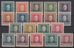 Austria Feldpost Occupation Of Italy 1918 Mi#1-19 Sassone#1-19 Mint Hinged - Austrian Occupation