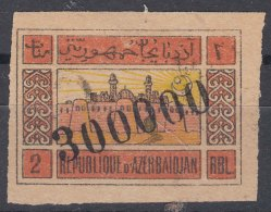 Azerbaijan 1923 Yvert#50 With Marchine Overprint - Azerbaïjan