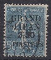 Grand Liban, Great Lebanon 1924 Yvert#9 Used - Used Stamps