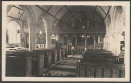 Interior, St Mellanus' Church, Mullion, Cornwall, C.1930s - Hawke RP Postcard - Other