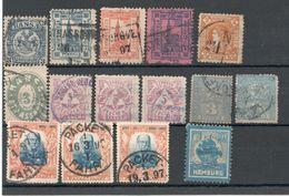 Steckkarte Mit Privatpostmarken Vor 1900 (*) Und Gest. - Privatpost