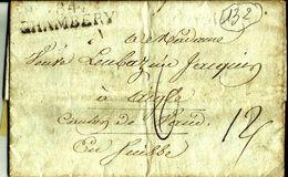 Lettre Année 1815 ?  84 Chambery France Departement Conquis  Pour  Laigle Suisse  N°132 - Marcophilie (Lettres)