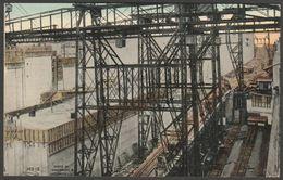 Chamber Cranes, Miraflores Lock, Panama Canal, C.1910 - Underwood Postcard - Panama