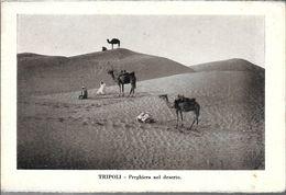 TRIPOLI PREGHIERA DEL DESERTO STAMPA CIRCA 1895 LIBYA LIBIA - Libië
