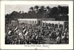 SUK EL GIUMA TRIPOLI MERCATO TRES ANIMA STAMPA CIRCA 1895 LIBIA - Libië