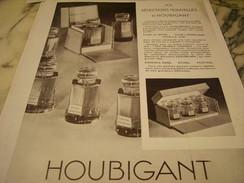 ANCIENNE PUBLICITE PARFUM HOUBIGANT 1932 - Fragrances