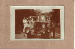 PHOTO - AUTOMOBILE - LOT DE 2 PHOTOS DE FAMILLE - AUTOMOBILE DE DION BOUTON - Cars
