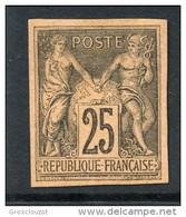 Colonie Francesi, Emissioni Generali 1878-80 N. 43 C. 25 Nero Su Rosso MNG Nuovo Senza Gomma - Sage