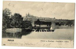 Praha, Pohled Na Hradcany Z Frantiskova Nabrezi, Lazne Bader, Alte Postkarte 1904 - Czech Republic
