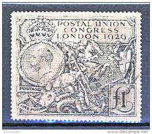UK Giorgio V 1929 Congresso UPU 1 Sterlina Nero Usato Catalogo € 1000 SPLENDIDO FALSO - 1902-1951 (Könige)