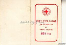 "PIETRA LIGURE_TESSERA ""CROCE ROSSA ITALIANA SOTTOCOMITATO DI PITRA LIGURE -ANNO 1964- - Savona"