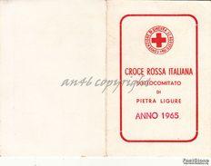 "PIETRA LIGURE_TESSERA ""CROCE ROSSA ITALIANA SOTTOCOMITATO DI PITRA LIGURE -ANNO 1965- - Savona"