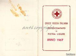 "PIETRA LIGURE_TESSERA ""CROCE ROSSA ITALIANA SOTTOCOMITATO DI PITRA LIGURE -ANNO 1967- - Savona"
