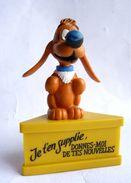 Rare FIGURINE SCHLEICH BOULE & BILL SUR SOCLE JE T'EN SUPPLIE... 1985 - Figurines