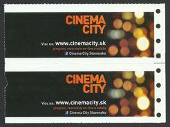 Slovakia, Bratislava, Entry Tickets For Cinema City, Alien Covenant, Pair - Tickets - Vouchers