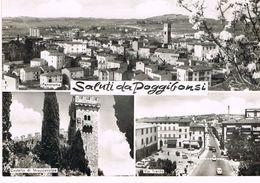 SALUTI DA POGGIBONSI  3 VEDUTINE - Siena