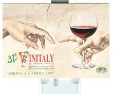 VERONA, VINITALY 31°, 1997, ANNULLO SPECIALE FIGURATO ,1997, SU CARTOLINA DEDICATA, - Vin