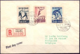 FINLAND 1938 FDC WK Skiën In Lathi - FDC