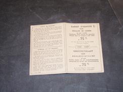 CARNET D'IDENTITE POUR INVALIDE DE GUERRE-COLLIN ALPHONSE DE CHENEE 1959/1969 - Documents