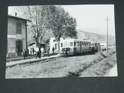 GARE DE PONTE NUOVO/ CASTELLO DI ROSTINO / ARDT CORTE 1950 / AUTORAIL CALVI  /15X11 CM/ SERIE 64  VUE 4 / CLICHE BAZIN - Trains