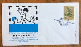 SPORT PALLANUOTO   ZAGREB ZAGABRIA 1966 VATERPOLU BUSTA CON ANNULLO SPECIALE 28/1/1966 - Atletica
