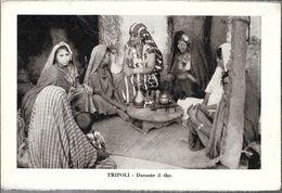 TRIPOLI  DURANTE IL THE STAMPA CIRCA 1912 LIBIA OCC. ITALIANA - Libië