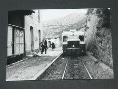 GARE DE  NOVELLA / ARDT  CALVI  1950 / AUTORAIL CALVI  /15X11 CM/ SERIE 64  VUE 7 / CLICHE BAZIN - Trains